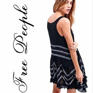 Free People Voile and Lace Trapeze Slip Dress NWT